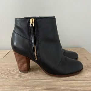 Cole Haan   black leather booties size 5